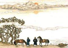 """李白《送友人》""""此地一为别,孤蓬万里征。""""全诗翻译及赏析"""