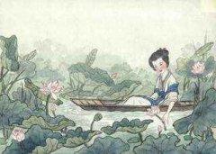 """王昌龄《采莲曲》""""荷叶罗裙一色裁,芙蓉向脸两边开""""全诗翻译及赏析"""