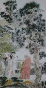 """李白《庐山东林寺夜怀》""""霜清东林钟,水白虎溪月。""""全诗注释赏析"""