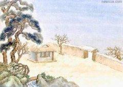 """韩愈《春雪》""""白雪却嫌春色晚,故穿庭树作飞花""""古诗赏析及翻译注释"""