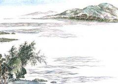 """孟浩然《望洞庭湖赠张丞相》""""八月湖水平,涵虚混太清""""翻译赏析"""