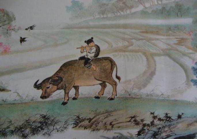 牧童 吕岩诗意10字图片1
